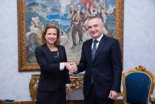 Beim Parlamentspräsidenten Ilir Meta