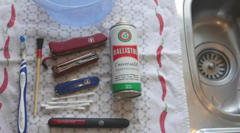 schweizer taschenmesser reinigen