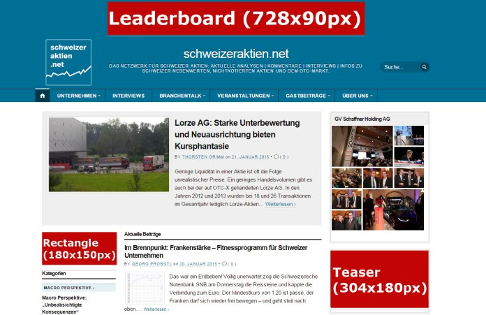 Bannerpositionen_website