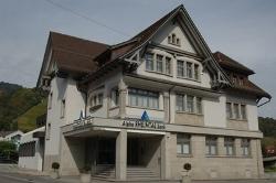 Eine der Geschäftsstellen der Alpha Rheintal Bank befindet sich in Berneck. Quelle: Alpha Rheintal Bank AG