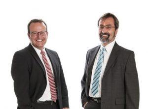 Die SLB wird von den beiden Bankexperten Thomas Vogt (links im Bild) und Rudolf Zürcher geführt. Quelle: SLB AG