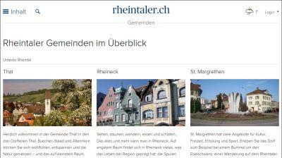 Die regionale Online-Plattform rheintaler.ch verzeichnet steigende Zugriffszahlen. Bild: www.rheintaler.ch