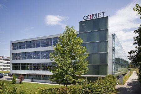 Der Hauptsitz von Comet im Flamatt. Bild: www.comet-group.com