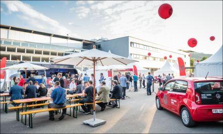 """Investitionen in neue Projekte und Kampagnen, wie die """"KMU und du?""""-Anlässe (im Bild Luzern) haben den Geschäftsaufwand der WIR Bank ansteigen lassen. Bild: www.kmu-und-du.ch"""
