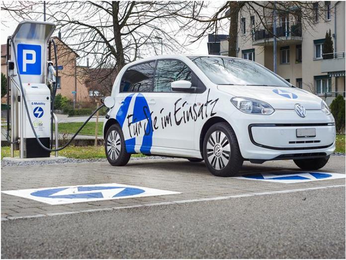 Die EWJR AG engagiert sich für umweltverträgliche Mobilitätslösungen im Regionalbereich und investiert in den Aufbau der Infrastruktur für Elektro-Fahrzeuge in Rapperswil-Jona. Bild: www.ewjr.ch