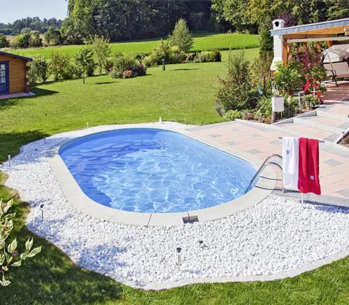 OvalSchwimmbecken KomplettAngebot LAGOSB Einbau