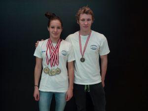 4*Silber für Antonia Lair und 1*Bronze für Stefan Keinrath