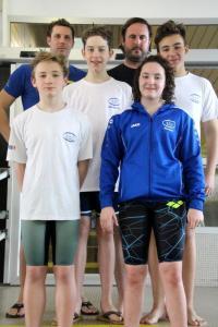 1x Gold, 1x Silber 4x Bronze für die Schwimmer der ESU