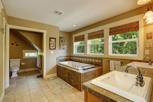 Beautiful Bathroom with Windows Bathroom remodeling