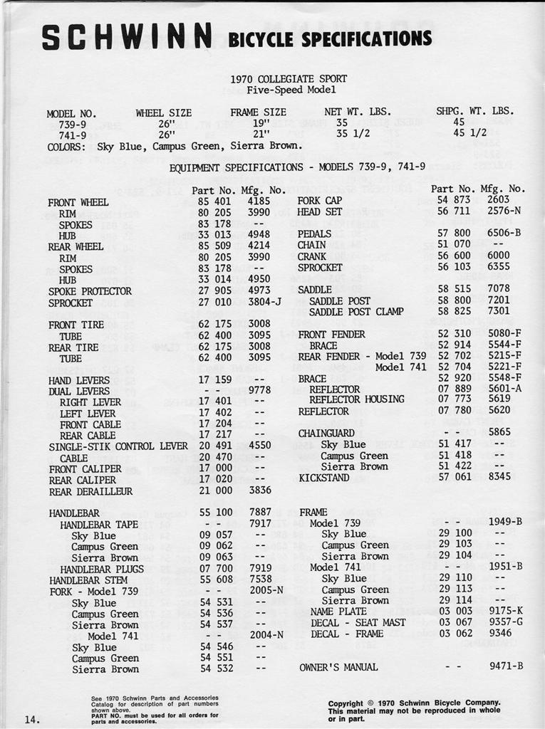 SLDB 1970 Dealers Catalog