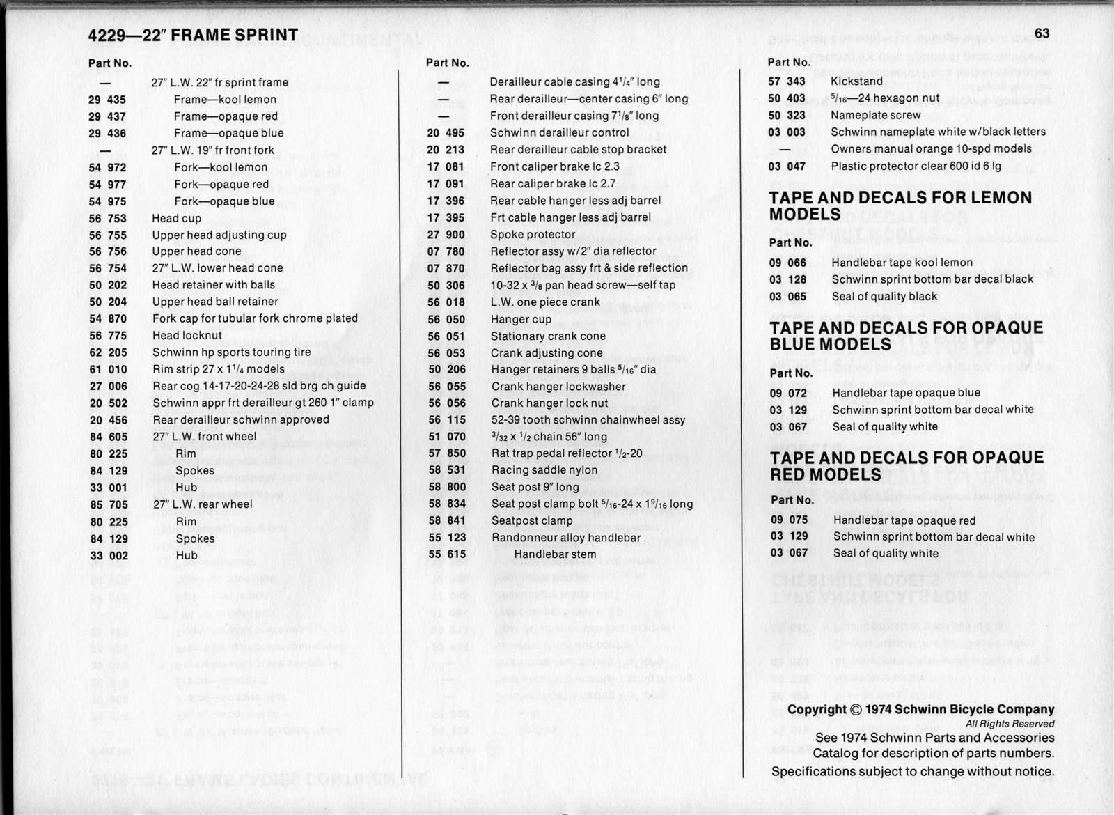 SLDB 1974 Dealers Catalog