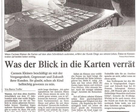 Kartenlegen in Niederrhein wahrsagen hellsehen in Brüggen Niederrhein