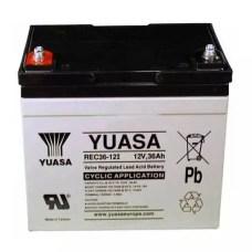 batería yuasa de 36a para sillas de ruedas eléctricas