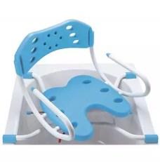 Asiento giratorio de bañera regulable