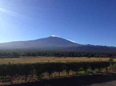 il vulcano Etna tra Catania e Bronte