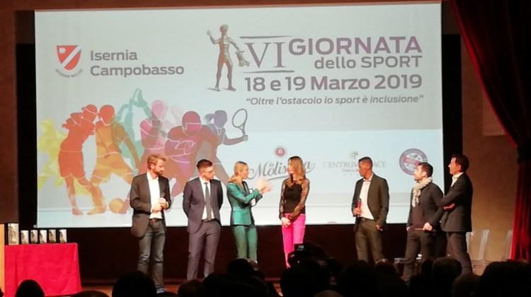 """La nostra atleta Claudia Di Tanna premiata alla """"Giornata Regionale dello Sport"""""""
