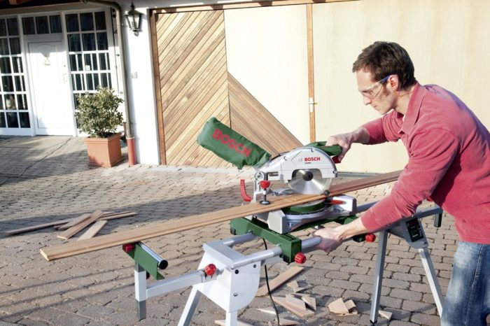 support mobile pour scie a onglet