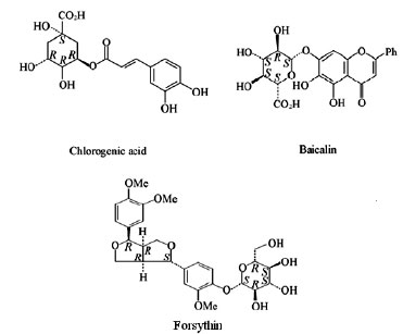 DETERMINATION OF CHLOROGENIC ACID, BAICALIN AND FORSYTHIN