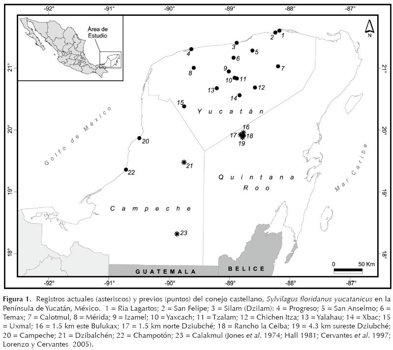 Nuevos registros de Sylvilagus floridanus en la Península