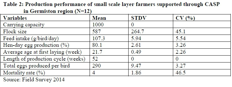 Production performance and profitability analysis of small
