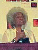 Very blurry picture of Nichelle Nichols