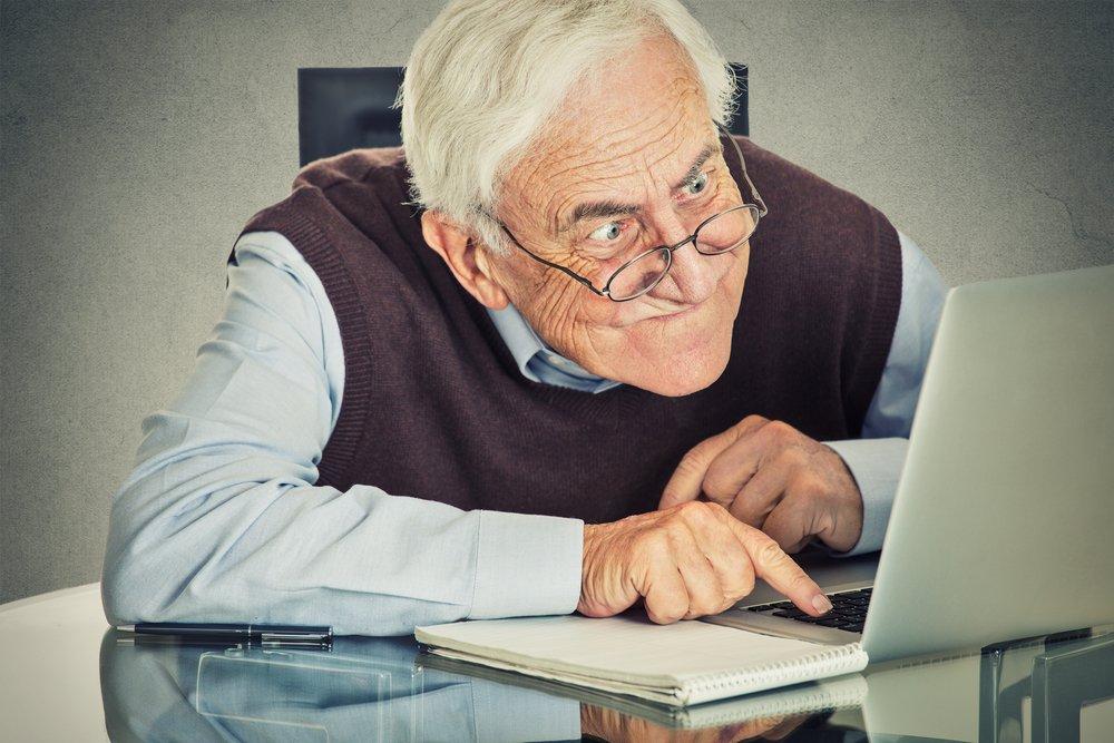Using Computers Elderly People