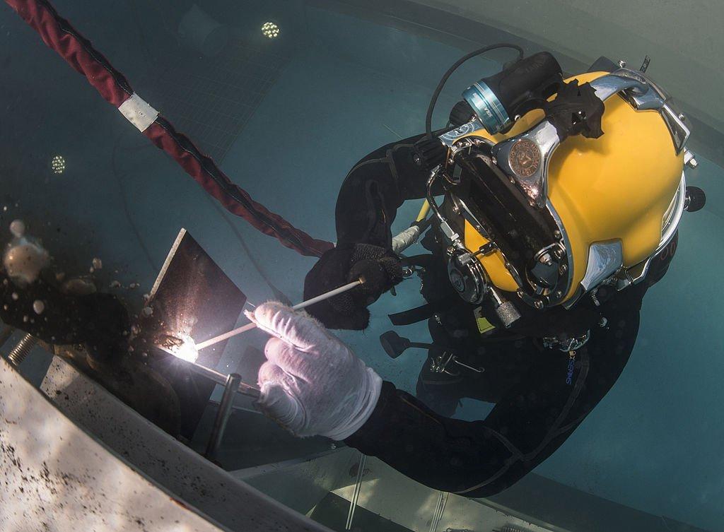 Welder Underwater Diver