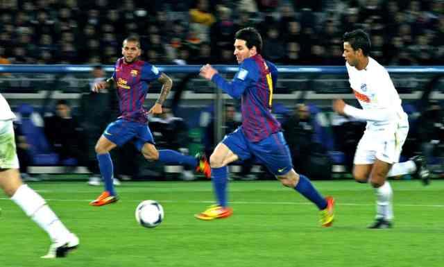 Lionel Messi jouant