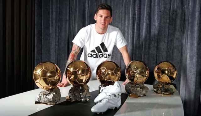 Messi 5 Ballon d'Or