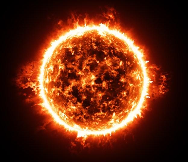 Atmosfera ardente de estrela gigante vermelha - Imagem (yurchak) s