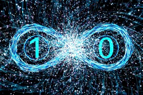 Conceito de dualidade da física quântica de um fóton (plotagem) S