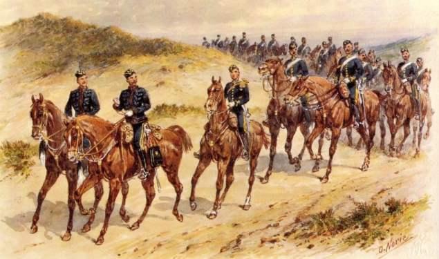 Pintura de cavalaria militar