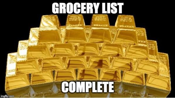 meme da lista de compras