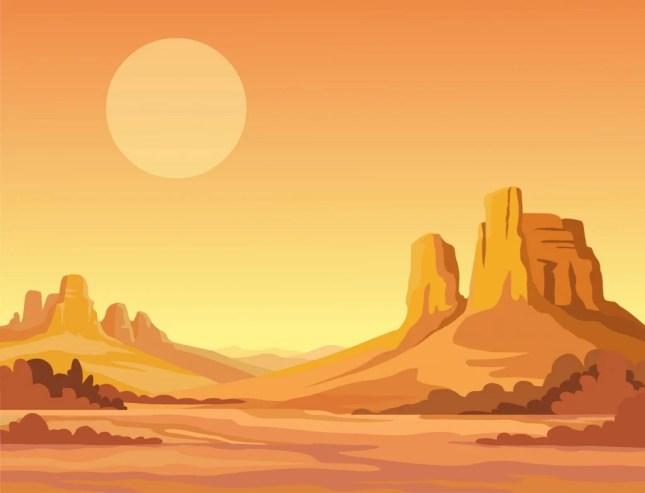paisagem do deserto (Zvereva Yana) s