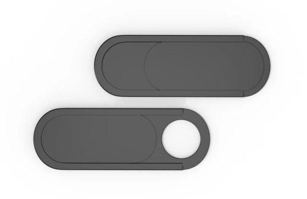 Tampa da webcam ultrafina em branco para mock up e branding (GO DESIGN) s