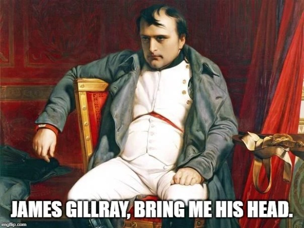 A Grã-Bretanha não gostava de Napoleão por causa de suas tendências expansionistas.