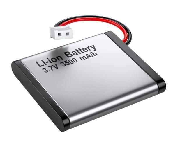 Bateria recarregável de íons de lítio com conector (Marynchenko Oleksandr) s