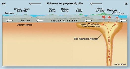 Diagrama transversal de ponto de acesso Havaí