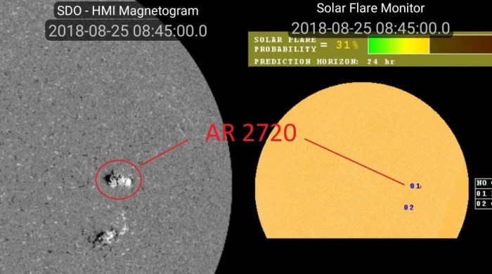 Sunspot AR2720 (NASA Space Weather App)