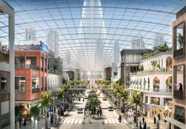 """Illustrazione concettuale di """"The Boulevard"""" (Dubai Holdings)"""