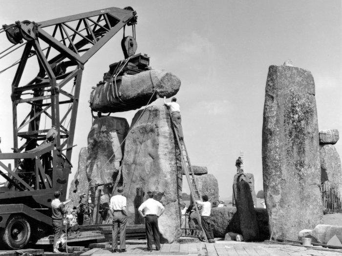 original restoration photo stone henge