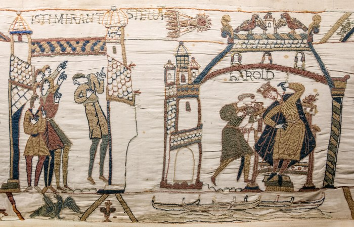 Comet Halley on the Bayeux Tapestry. (Wikipedia/CC BY-SA)