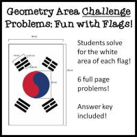 Area Challenge Problems with Flags