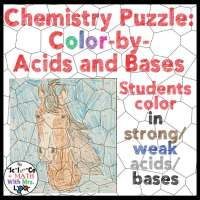 Acid and Base Color By Number Puzzle