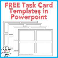 Free Task Card Templates