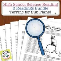 High School Science Reading and Sub Plans