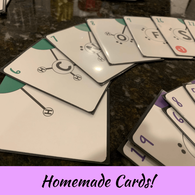 Homemade card game in card sleeves
