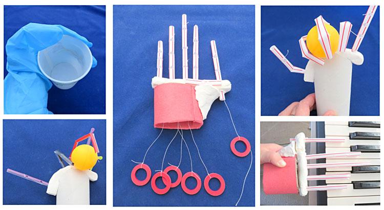 grasping with straws make