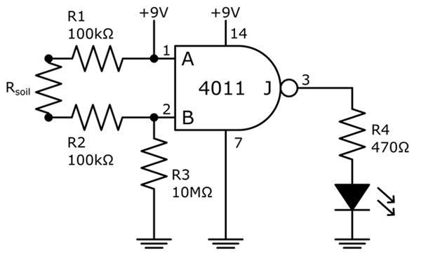 moisture sensor circuit diagram