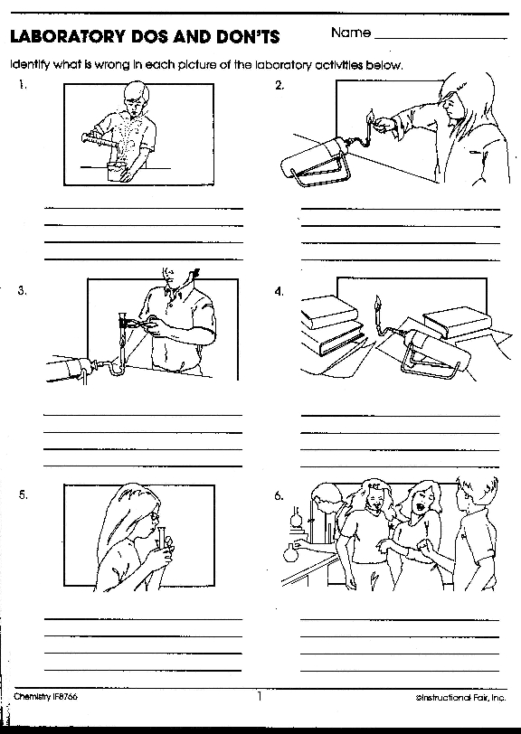 Science Safety Worksheets Pictures to Pin on Pinterest